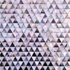 shell tile backsplash pyramid patterns