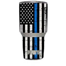 Thin Blue Line Yeti Decal Cardecal
