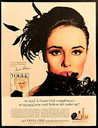 Vtg 1964 Cover Girl makeup make up Sondra Peterson advertisement print ad  art | eBay