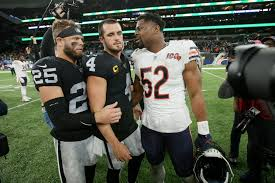 Raiders upset Bears in London, sit one game out of division lead ...