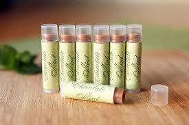 chocolate mint lip balm party inspiration
