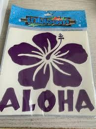 Hawaiian Purple Aloha Hibiscus Hawaii Sticker Decal New Car Vinyl 5 Ebay
