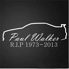 Paul Walker Rip Car Window Bumper Vinyl Decal Sticker Wish