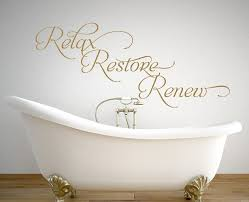 Add A Relaxing Atmosphere With This Relax Restore Renew Wall Decal