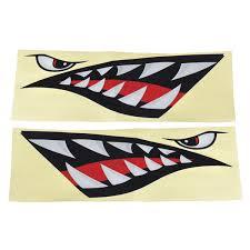 Shark Teeth Mouth Eyes Waterproof Vinyl Decal Sticker For Car Shark Boat Kayak Sale Banggood Com