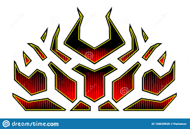 Vehicle Graphics Stripe Hot Rod Racing Flame Graffiti Car Decal Vinyl Ready On The Hood Of A Car Stock Vector Illustration Of Effect Decal 134026525