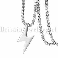 thunder lightning bolt pendant necklace