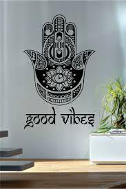 Good Vibes Hamsa Wall Decals Fatima Hand Quotes Wall Decor Vinyl Stickers Yoga Meditation Decor Geometric Wall Tattoos 510 Hamsa Wall Decal Hamsa Wallwall Decals Aliexpress