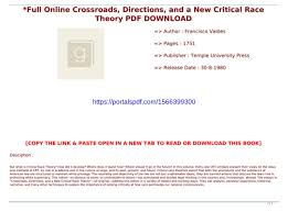 Critical Race Theory PDF DOWNLOAD ...