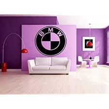 Amazon Com Bmw Logo Garage Dealership Wall Art Sticker Garage Decal Wall Decor Black Home Kitchen