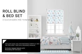 Kids Room Roll Blind Bedding Creative Photoshop Templates Creative Market