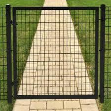 4 X 4 Black Euro Steel Fence Gate Panel At Menards