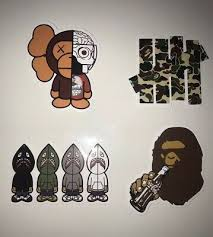 Made In Usa Fast Ship Bape Bathing Ape Large Wall Decal Sticker Free Decal Decor Decals Stickers Vinyl Art Home Garden