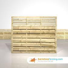 Elite Slatted Top Fence Panels 5ft X 6ft Natural Berkshire Fencing