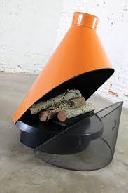 cone shaped freestanding fireplace