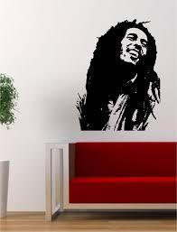 Bob Marley Version 1 People Music Reggae Rasta Decal Sticker Wall Vinyl Decor Art Wall Vinyl Decor Vinyl Decor Vinyl Wall Art Decals