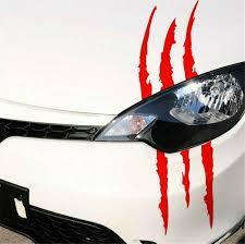 Headlight Claw Scar Scratch Monster Stripe Decals Camaro Dodge Charger Sticker Wall Stickers Aliexpress