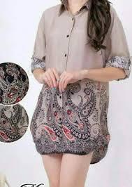 Kakak atau ibu lagi cari baju gamis batik terbaru berkualitas? 52 Model Baju Batik Wanita Gemuk Kekinian Populer 2018