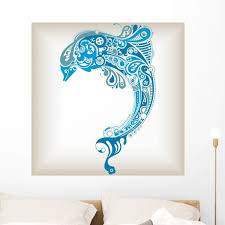 Abstract Dolphin Wall Decal By Wallmonkeys Peel And Stick Graphic 36 In H X 36 In W Wm122647 Walmart Com Walmart Com