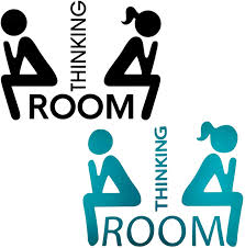 Amazon Com Maydahui 2pcs Thinking Room Wall Decals 8 6 Inch Sticker Decor Black Green Art Vinyl Mural Sign For Cafe Shop Office Toilet Hotel Closestool Bathroom Salon Home Kitchen Dining