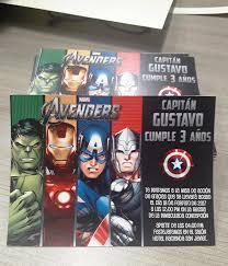 Cumpleanos De Los Avengers Para Gustavo Invitaciones Fabi