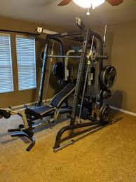 Marcy Smith Machine Cage Gym System + 300 lbs - $950 (6143 N Ewing St) |  Sports Goods For Sale | Indianapolis, IN | Shoppok