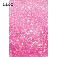 خلفيات تصوير وردية براقة Laeacco للأطفال حديثي الولادة خلفيات