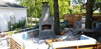 outdoor fireplace outdoor kitchen small