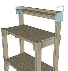 simple potting bench ana white