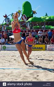 Lizzie Smith in action during 2012 Volleyball England Beach Tour ...