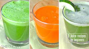 juicing for the first time 3 recipes