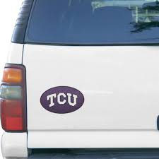 Tcu Horned Frogs Teamball 6 X 6 Oval Full Color Magnet