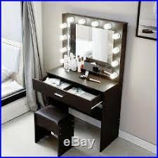makeup vanity table stool set drawers