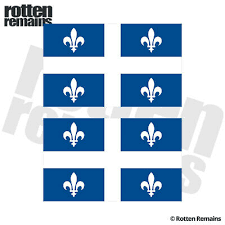 Quebec Fleur De Lys Decal Sticker Flag Canada Car Vinyl Pick Size Color 2 00 Picclick