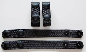 basketweave leather police belt keepers