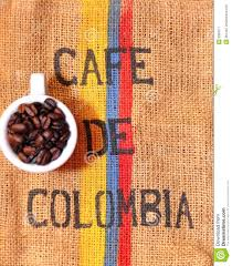 Colombian coffee stock image. Image of blue, coffee, white - 8369511