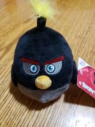 plush black bird stuffed toy