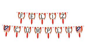 Atletico Madrid Happy Birthday Printable Banner Party Banderin