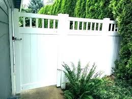 plastic garden fence panels