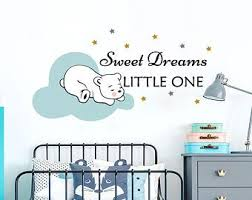 Sweet Dreams Little One Wall Stickers Clouds Star Wall Decal Etsy