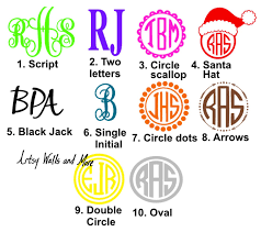 Oval Monogram Decal Monogram Decals For Tumblers Car Windows Laptops The Artsy Spot