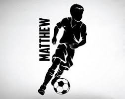 Soccer Wall Decals Etsy