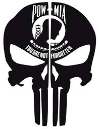 Pow Mia Flag Punisher Skull Reflective Rear Helmet Decal Police Fire Ems Viny Graphics Stickers Decals Dkedecals