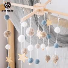 2020 Baby Rattles Mobile Wooden Teether Kids Room Decoration Crib Mobile Baby Toys Felt Ball Infant Crib Stroller Toy Wooden Rattle T200429 From Xue07 17 69 Dhgate Com