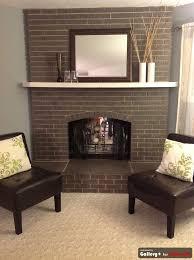 grey painted brick fireplace like