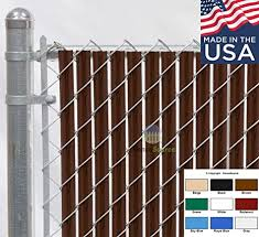 Fence Source Wave Slat 9 Colors Single Wall Bottom Locking Privacy Slat For 4 5 6 7 And 8 Chain Link Fence 7 Ft Brown Amazon In Garden Outdoors