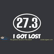 Marathon Runner I Got Lost Car Window Decal Sticker Running Decals