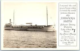 JOHANNA SMITH GAMBLING SHIP Real Photo RPPC Postcard Long Beach CA c1920s /  HipPostcard