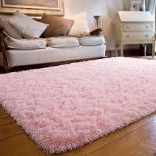 Amazon Com Joyfeel Soft Bedroom Rugs Girls Pink 4 X6 Shaggy Fluffy Floor Area Rugs Modern Indoor Plush Living Room Rug Nursery Baby Princess Kids Room Home Decor Carpets Home Kitchen