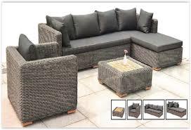 rattan sofa set 1 3 right chaise lounge